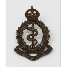 Royal Army Medical Corps (R.A.M.C.) Officer's Service Dress Collar Badge - King's Crown