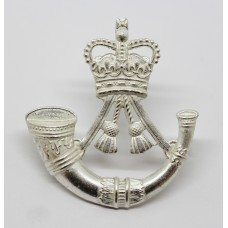 The Rifles Silver Plated Cap Badge