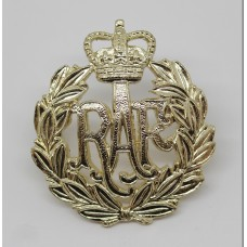 Royal Air Force (R.A.F.) Anodised (Staybrite) Cap Badge - Queen's