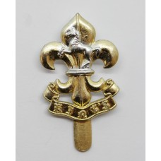 The King's Regiment Anodised (Staybrite) Beret Badge