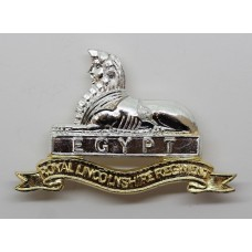 Royal Lincolnshire Regiment Anodised (Staybrite) Cap Badge