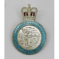 Royal Observer Corps Hallmarked Sliver & Enamel Lapel Badge - Queen's Crown