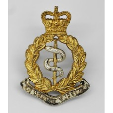 Royal Army Medical Corps (R.A.M.C.) Officer's Dress Cap Badge - Queen's Crown