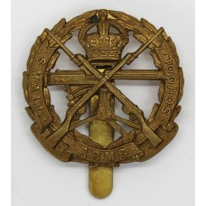 Small Arms School Brass Cap Badge - King's Crown