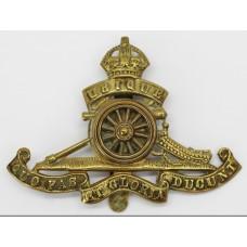 Royal Artillery Revolving Wheel Cap Badge - King's Crown