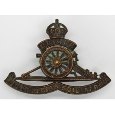South African Artillery Cap Badge - King's Crown