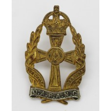 Queen Alexandra's Royal Army Nursing Corps (Q.A.R.A.N.C.) Officer's Cap Badge - King's Crown