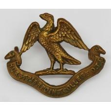 Hurstpierpoint College O.T.C. Cap Badge