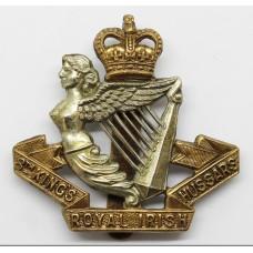 8th King's Royal Irish Hussars Cap Badge - Queen's Crown
