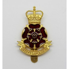 Queen's Lancashire Regiment Enamelled Cap Badge