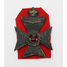 King's Royal Rifle Corps (K.R.R.C.) Cap Badge - King's Crown