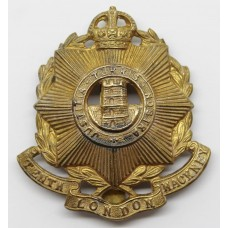10th County of London Bn. (Hackney Rifles) London Regiment Cap Badge - King's Crown
