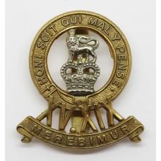 15th/19th Hussars Cap Badge - Queen's Crown