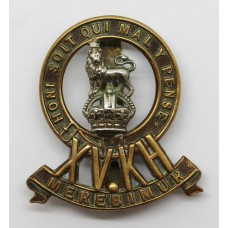 15th King's Hussars Cap Badge - King's Crown