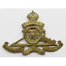 Honourable Artillery Company (H.A.C.) Cap Badge - King's Crown