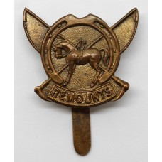 WW1 Army Remount Service Cap Badge
