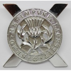 Lowland Brigade Anodised (Staybrite) Cap Badge