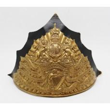 Edwardian 5th (Royal Irish) Lancers Czapka Cap Badge