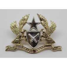 Ghana Army Anodised (Staybrite) Cap Badge