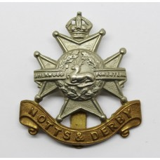 Notts & Derby Regiment (Sherwood Foresters) Cap Badge - King's Crown