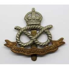 South Staffordshire Regiment Cap Badge - King's Crown