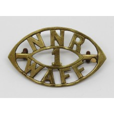 1st Northern Nigeria Regiment, West African Frontier Force (NNR/1/WAFF) Shoulder Title