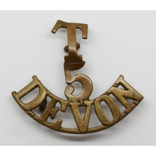 5th Territorial Bn. Devonshire Regiment (T/5/DEVON) Shoulder Titl