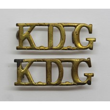 Pair of King's Dragoon Guards (K.D.G.) Shoulder Titles
