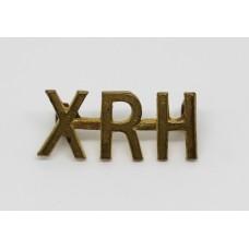 10th Royal Hussars (XRH) Shoulder Title