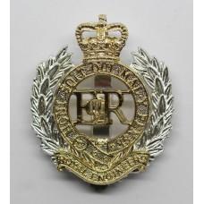 Royal Engineers Anodised (Staybrite) Cap Badge - Queen's Crown