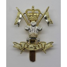 9th/12th Royal Lancers Anodised (Staybrite) Cap Badge