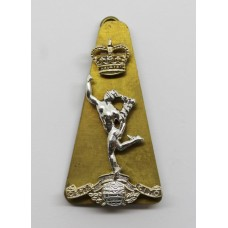 Royal Corps of Signals Anodised (Staybrite) Cap Badge - Queen's Crown