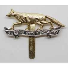 Queen's Own Yeomanry Anodised (Staybrite) Cap Badge