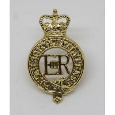 ERII Household Cavalry Anodised (Staybrite) Cap Badge
