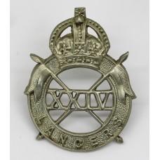 24th Lancers Cap Badge - King's Crown