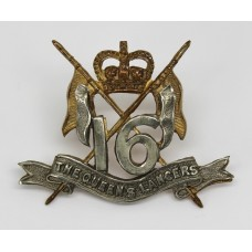 16th/5th Queen's Lancers Officer's Beret Badge - Queen's Crown