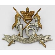 Victorian 16th Queen's Lancers Cap Badge