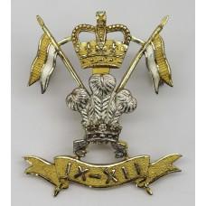 9th/12th Royal Lancers Officer's Cap Badge