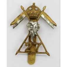 27th Lancers Cap Badge - King's Crown
