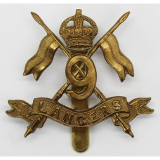 9th Queen's Royal Lancers WW1 Brass Economy Cap Badge