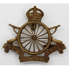 Army Cyclist Corps Officer's Cap Badge - King's Crown (16 spokes)