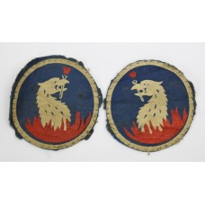 Pair of 219th Independent Infantry Brigade Painted Formation Signs