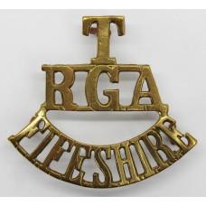 Fife Royal Garrison Artillery (T/R.G.A./FIFESHIRE) Shoulder Title