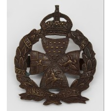 Inns of Court O.T.C. Officer's Service Dress Cap Badge - King's C