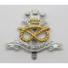 North Staffordshire Regiment Anodised (Staybrite) Cap Badge