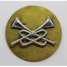 British Army Cavalry Trumpeters Chrome Arm Badge