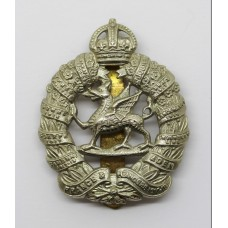 1st Bn. Monmouthshire Regiment Cap Badge - King's Crown
