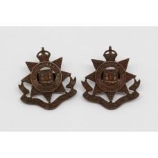 Pair of 23rd Bn. London Regiment Officer's Service Dress Collar Badges - King's Crown