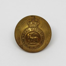 Royal Warwickshire Regiment Officer's Button - King's Crown (Large)