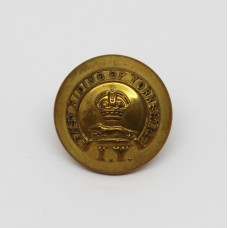 East Riding of Yorkshire Imperial Yeomanry Officer's Button - King's Crown (Small)